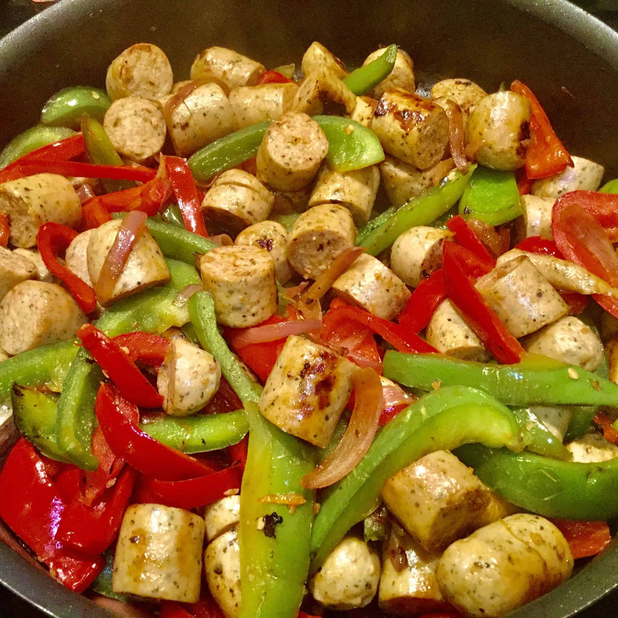 Transforming Strength Sausage & Peppers Skillet Recipe