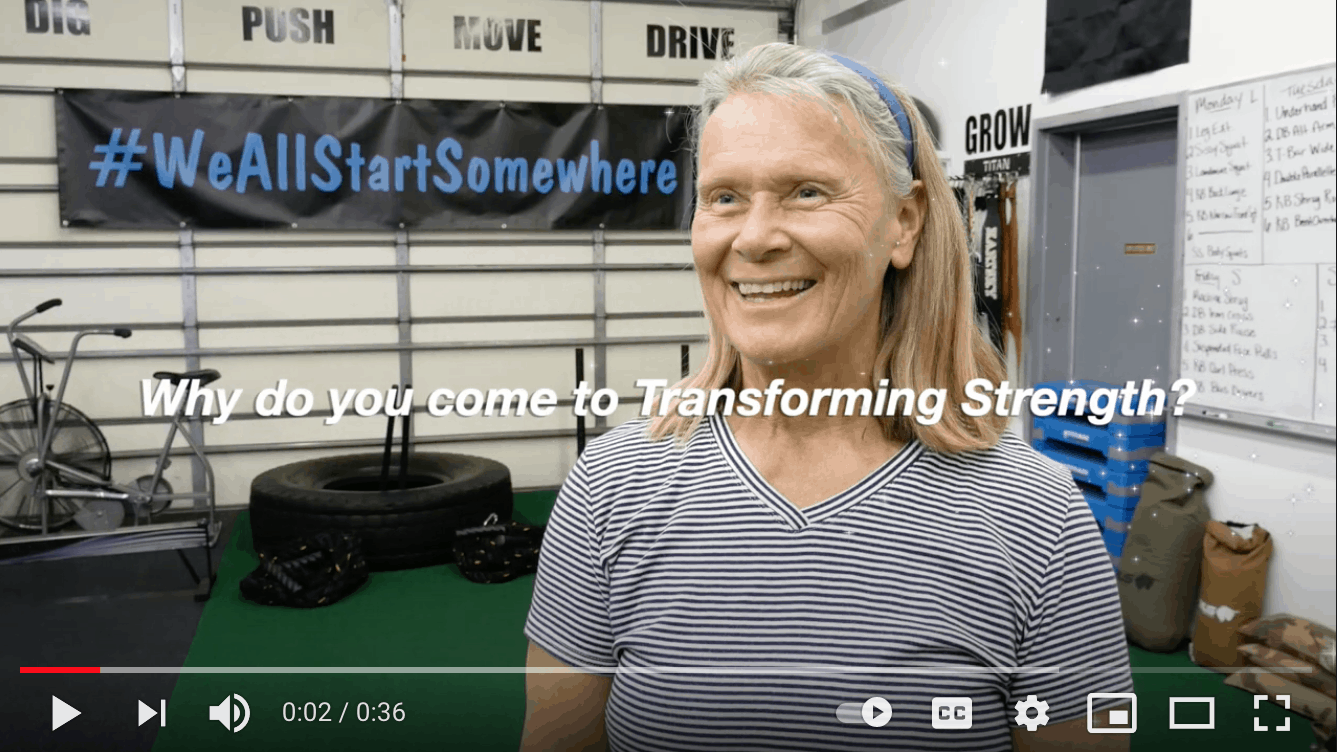 Transforming Strength on YouTube